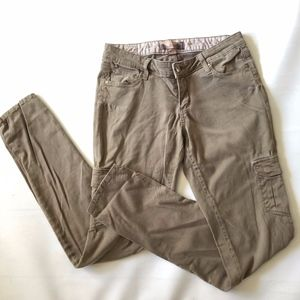 Paige Pants Cargo Olive Green